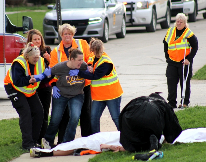 Mock crash shows students potential consequences of