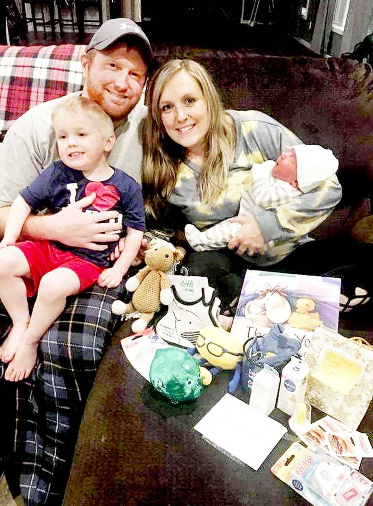 By Correne Martin A 9-pound newborn boy was the first baby of the new year born in Crawford County. Grady Eric was born to Ehlonna and Jeremy Jerrett, of Gays Mills, on Wednesday, Jan. 6, at 7:48 a.m. at home. He weighed 9 pounds even and measured 20.5 inches long.Grady is the grandson...