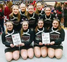 Cheerleaders third at State